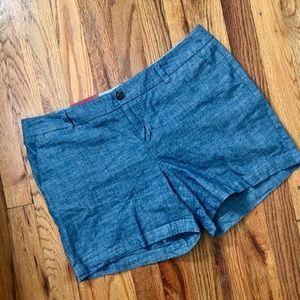 Merona   SZ 4 Chino chambray denim shorts. NWT